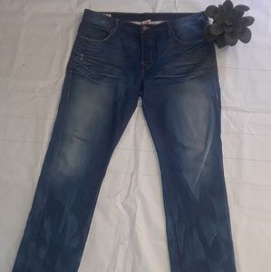 True Religion Geno Distressed Button Fly Jeans 36